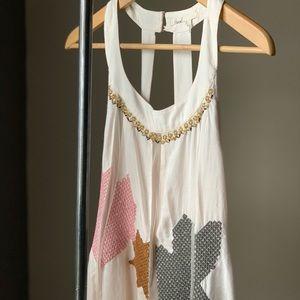 Anthropologie top in xs in pink/nude